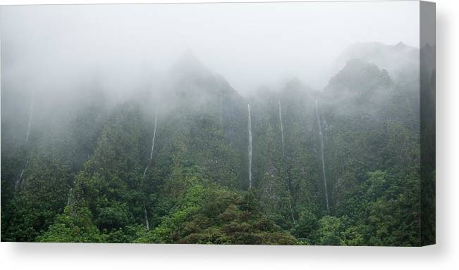 Waterfall Canvas Print featuring the photograph H3 Waterfalls by Cameron Brooks