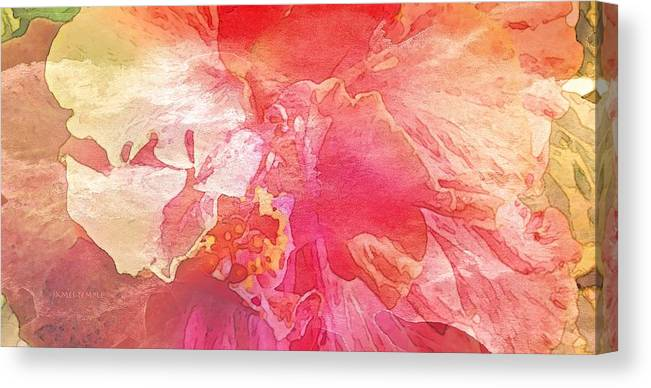 Slow Dancing Canvas Print featuring the digital art Slow Dancing by James Temple