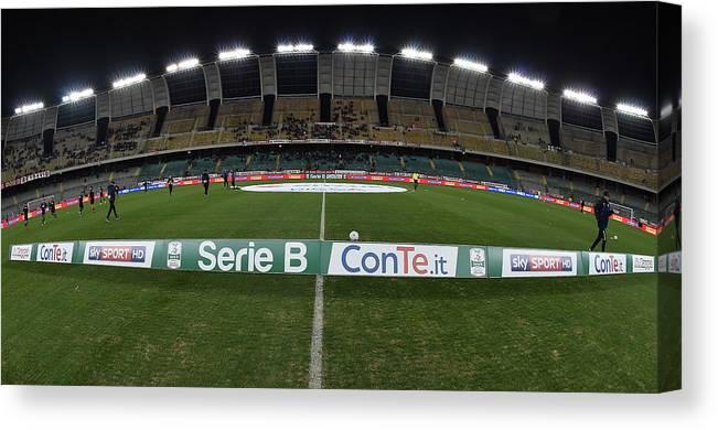 Bari Canvas Print featuring the photograph FC Bari v Parma Calcio - Serie B by Giuseppe Bellini
