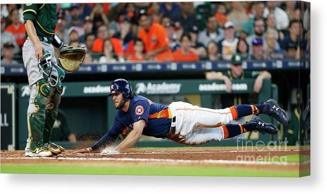 People Canvas Print featuring the photograph Jake Marisnick by Bob Levey
