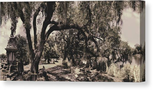 Castle Canvas Print featuring the photograph Magnolia Cemetery by James Christopher Hill