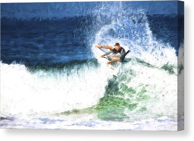Surfer Canvas Print featuring the photograph Catching a wave by Sheila Smart Fine Art Photography