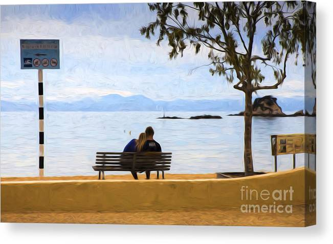 Lovers Canvas Print featuring the photograph The lovers by Sheila Smart Fine Art Photography