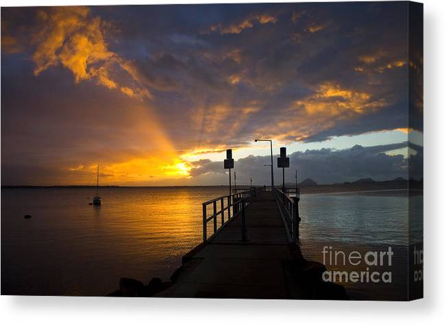 Sunrise Canvas Print featuring the photograph Salamander Bay sunrise by Sheila Smart Fine Art Photography