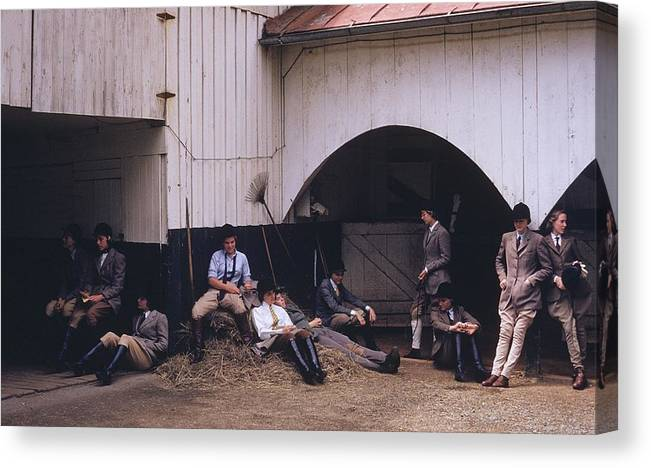 Horse Canvas Print featuring the photograph School Riding by Slim Aarons