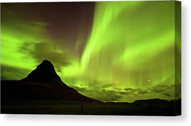 Scenics Canvas Print featuring the photograph Aurora Borealis by Geinis