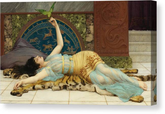 Sweet doing nothing. Dolce far niente Canvas Print / Canvas Art by John  William Godward