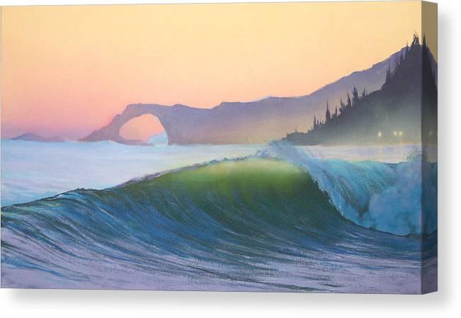 Ocean Canvas Print featuring the painting Sunset Sonata by Philip Fleischer