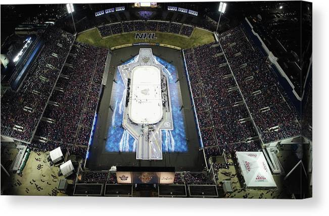 National Hockey League Canvas Print featuring the photograph 2018 Coors Light Nhl Stadium Series - by Nicole Abbett