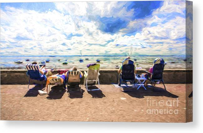 Seaside Canvas Print featuring the photograph A day at the seafront by Sheila Smart Fine Art Photography