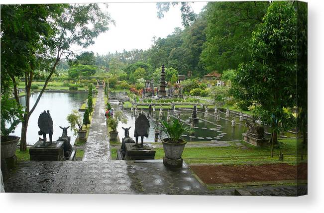 Bali Canvas Print featuring the photograph Bali Lake side by Jack Edson Adams