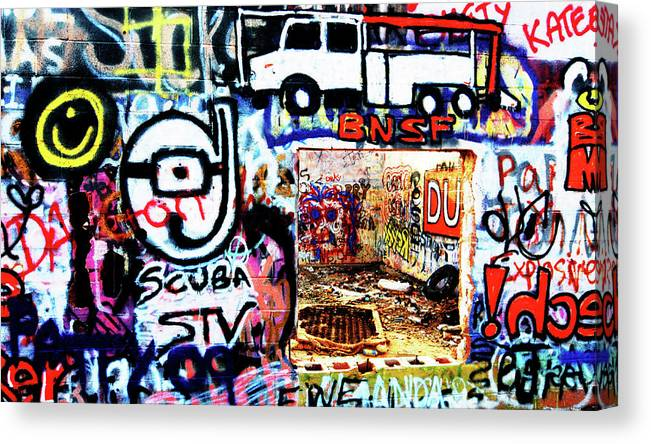 Darin Volpe Ruins Canvas Print featuring the photograph Concrete Canvas - Route 66 by Darin Volpe