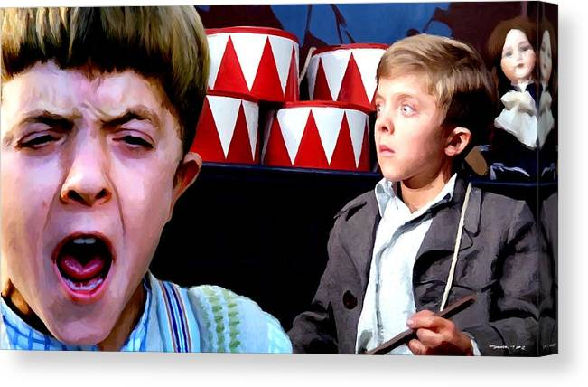 David Bennent Canvas Print featuring the digital art David Bennent in the film The Tin Drum by Gabriel T Toro
