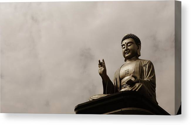 Tranquility Canvas Print featuring the photograph Monument by Welcome To Buy My Photos