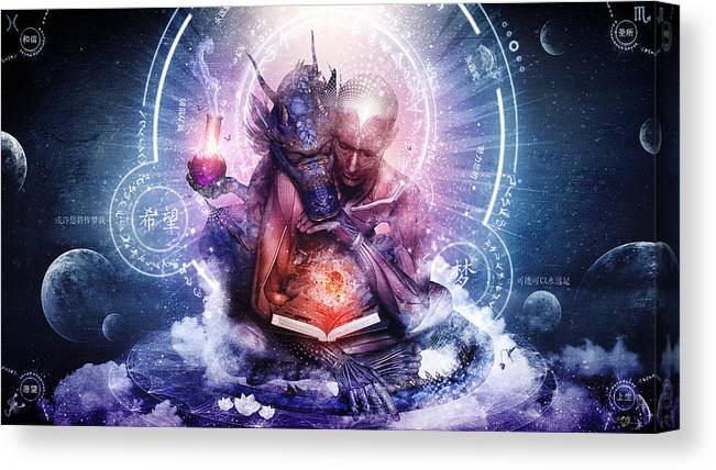 Spiritual Canvas Print featuring the digital art Perhaps The Dreams Are Of Soulmates by Cameron Gray