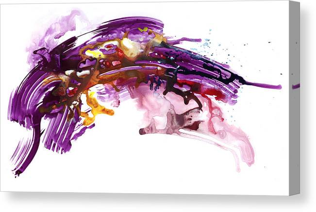 Abstract Canvas Print featuring the painting Raked by Ken Meyer jr