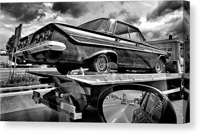Chevrolet Canvas Print featuring the photograph Road To Future by Bojan Bencic