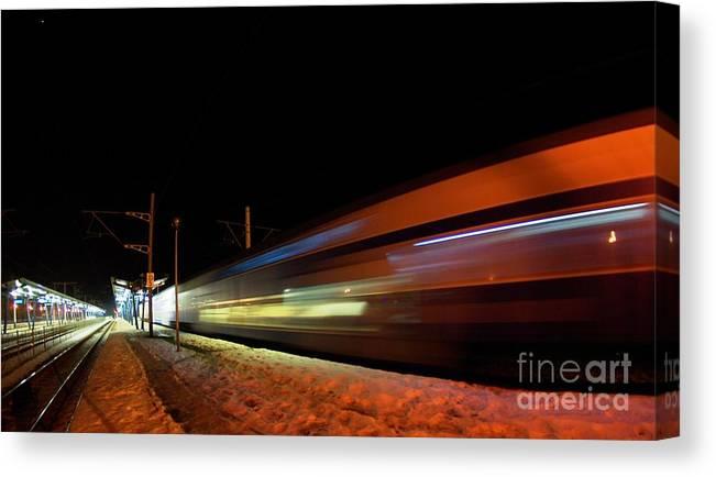 Train Canvas Print featuring the photograph Runaway Train by Amalia Suruceanu