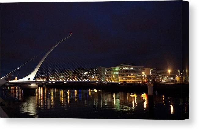 Dublin Canvas Print featuring the photograph Sean Ocasey Bridge, Dublin by Leverstock