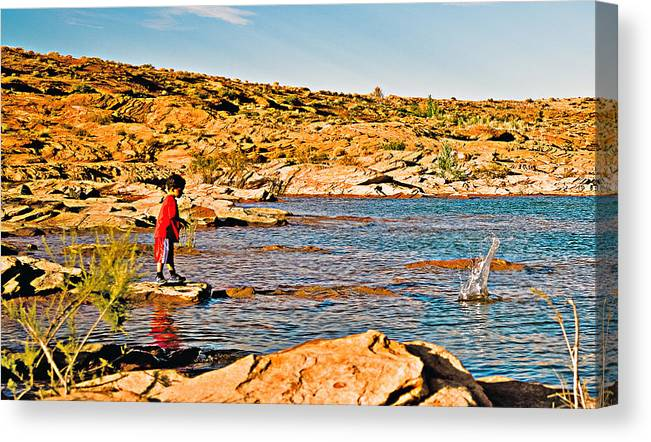 Landscape Canvas Print featuring the photograph A Splash To Remember by Gilbert Artiaga