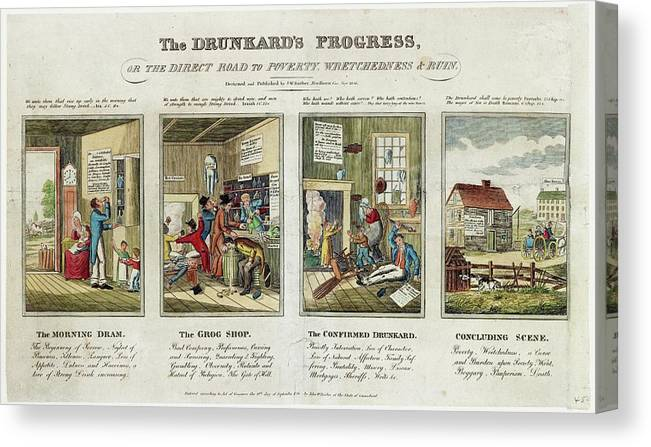 "8/"" x 10/"" The drunkards Progress"