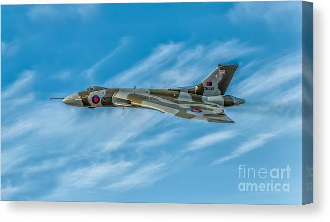 RAF Avro Vulcan Bomber Canvas Print Framed Digital Painting Wall Art Picture
