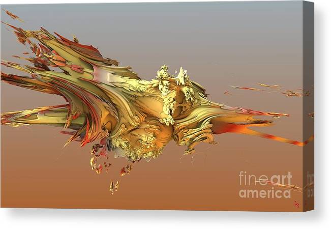 Fractal Canvas Print featuring the digital art Fractal Life by Ron Bissett