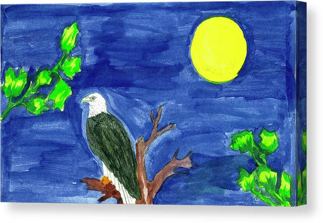 Canvas Print featuring the painting Eagle by Harry Richards