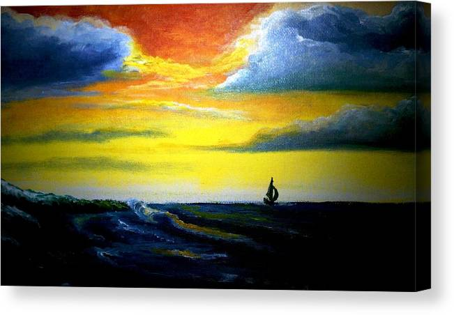 Landscape Canvas Print featuring the painting Freedom by Glory Fraulein Wolfe