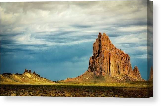 Nature Canvas Print featuring the photograph Shiprock, New Mexico by Zayne Diamond Photographic