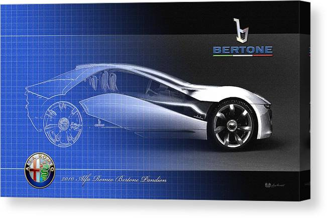 Wheels Of Fortune By Serge Averbukh Canvas Print featuring the photograph Alfa Romeo Bertone Pandion Concept by Serge Averbukh