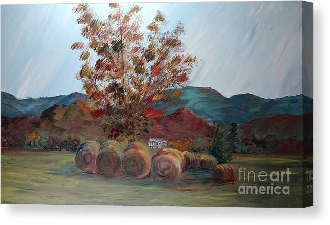 Autumn Canvas Print featuring the painting Arkansas Autumn by Nadine Rippelmeyer