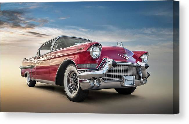 Vintage Canvas Print featuring the digital art Cadillac Jack by Douglas Pittman