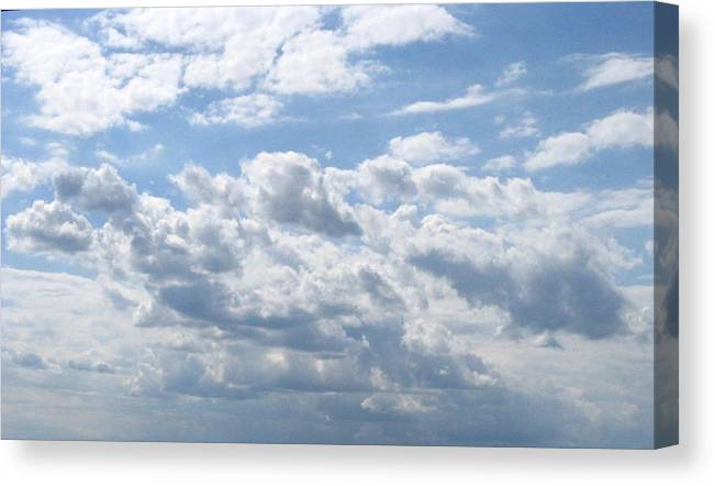 Clouds Canvas Print featuring the photograph Cloudy by Rhonda Barrett