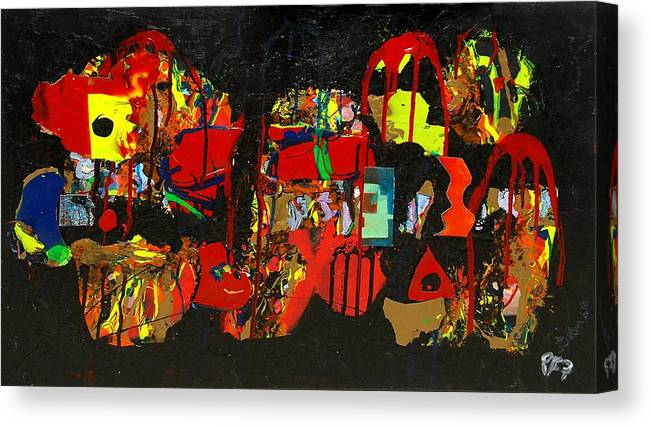 Abstract Canvas Print featuring the painting Collage 1 by Paul Freidin