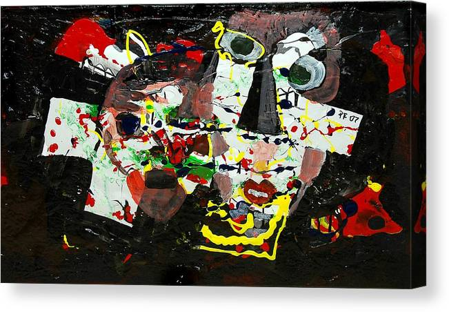 Abstract Canvas Print featuring the painting Collage 2 by Paul Freidin