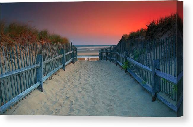 Crosby Landing Canvas Print featuring the photograph Crosby Landing Beach Entrance by Dapixara Art