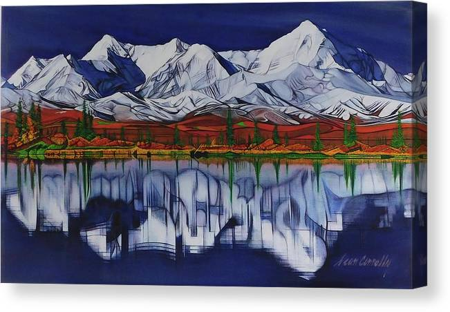 Mount Mckinley Canvas Print featuring the painting Denali by Sean Connolly