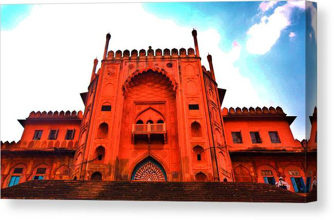 Architecture Canvas Print featuring the photograph #Entrance Gate by Aakash Pandit