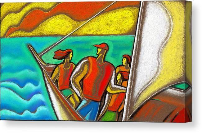 Family On Vacation Canvas Print Canvas Art By Leon Zernitsky
