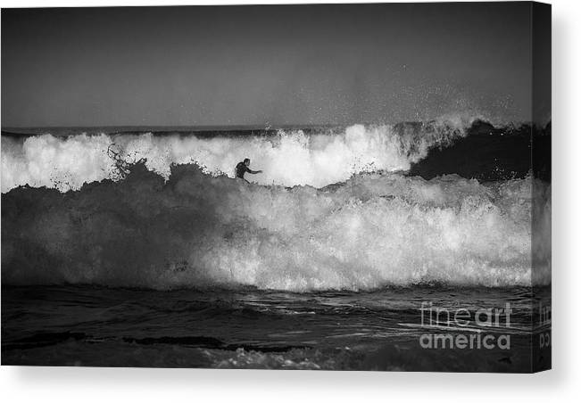 Heavy Surf Canvas Print featuring the photograph Heavy surf at Avalon Beach by Sheila Smart Fine Art Photography