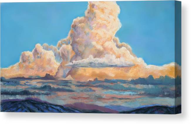 Mountians Canvas Print featuring the painting His Majesty by Billie Colson