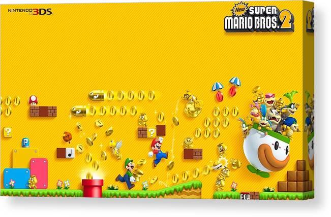 New Super Mario Bros 2 Canvas Print Canvas Art By Dorothy Binder