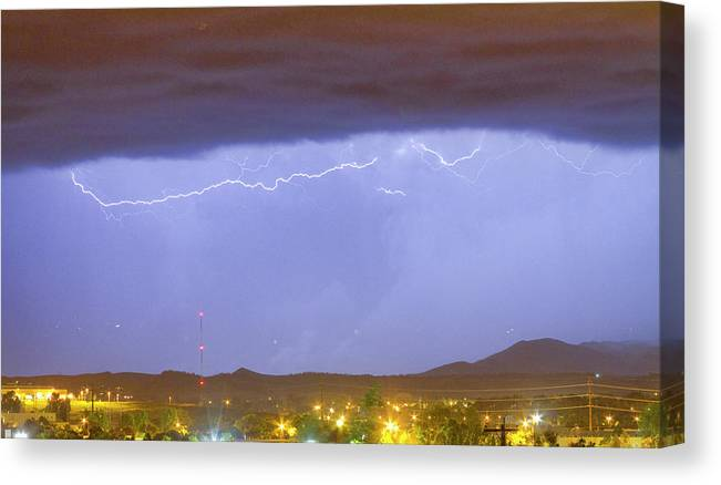 THUNDERSTORM IN THE COLORADO ROCKY MOUNTAINS CANVAS GICLEE ART PRINT OF PAINTING