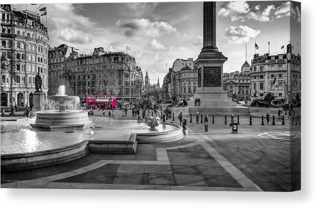 LONDON TRAFALGAR SQUARE PICTURE  PRINT ON WOOD FRAMED CANVAS WALL ART DECORATION