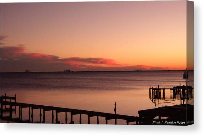 Sky Canvas Print featuring the photograph Pink Skyline by Nicole I Hamilton