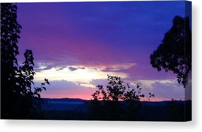 Purple Sunset Canvas Print featuring the photograph Purple Passion by Toni Berry