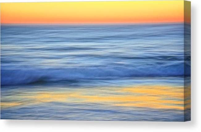 Nature Canvas Print featuring the photograph Reflection Gold by Zayne Diamond Photographic