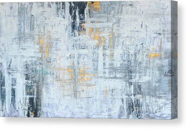 Gold Canvas Print featuring the painting Stand Firm by Nadine Rippelmeyer