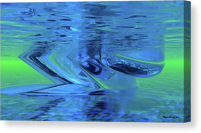 Water Canvas Print featuring the painting The All Seeing Eye by Wayne Bonney